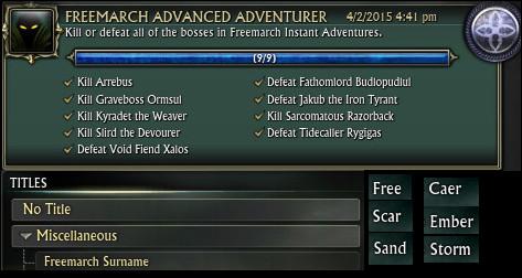 Instant Adventure Titles