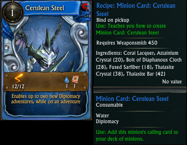 Minion Card Cerulean Steel