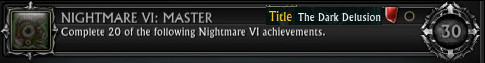 Nightmare VI Master Achievement