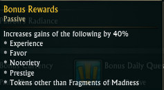 Patron Bonus - No Fragments of Madness