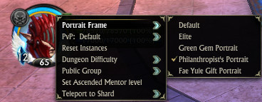 Portrait Frame Settings