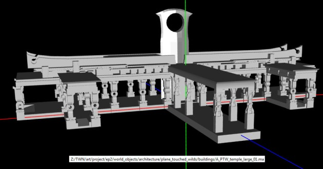 PTW Temple Large Model