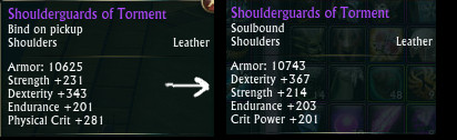 Shoulderguards of Torment PTS Buff
