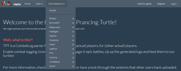 The Prancing Turtle - Guild Session