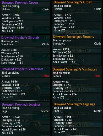 Tier 2 Raid Armor Stats Examples