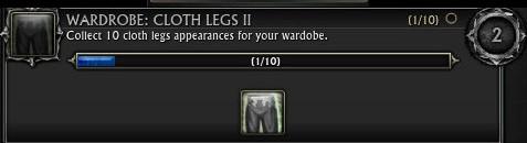 Wardrobe Achievements