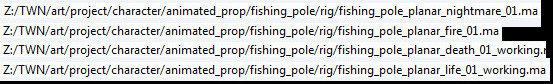 Fishing Pole Planar File Names