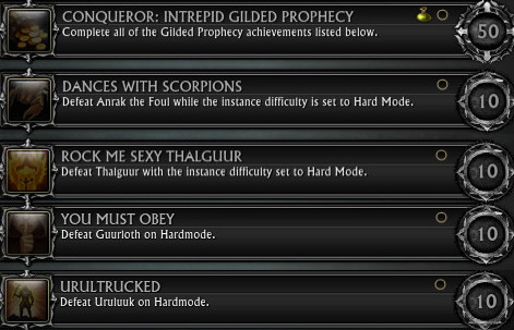 Intrepid Gilded Prophecy Hard Mode Achieves