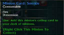 Minion Card Snerkle Tooltip