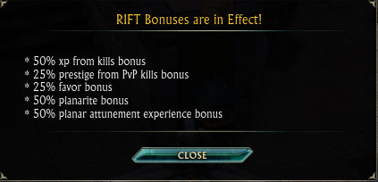 RIFT Bonus Weekend May 31st 2015