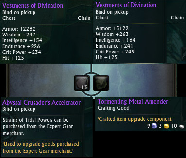 Vestments of Divination Upgrade