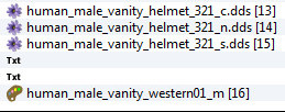 Western Human Vanity Helmet