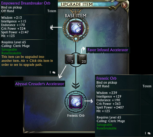 Empowered Dreambreaker Orb Cleric Upgrade Frenetic Orb