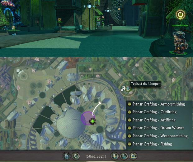 Location Tephael the Usurper Planar Crafting Weekly NPC