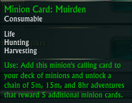 Minion Card Muirden Tooltip