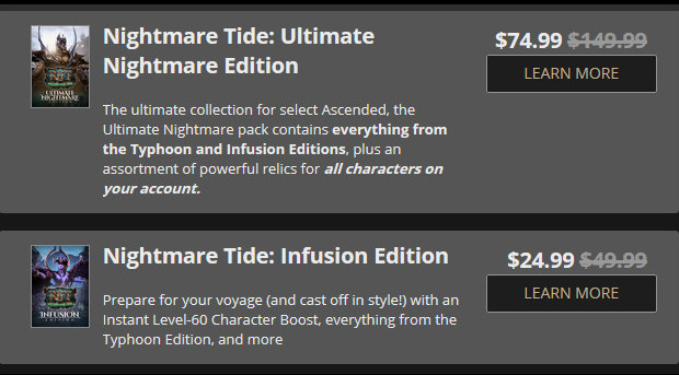 Nightmare Tide Discounts 50%