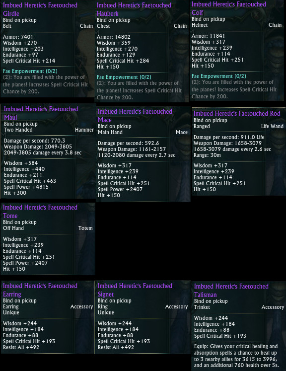 Planar Crafting Cleric DPS Upgrades PTS