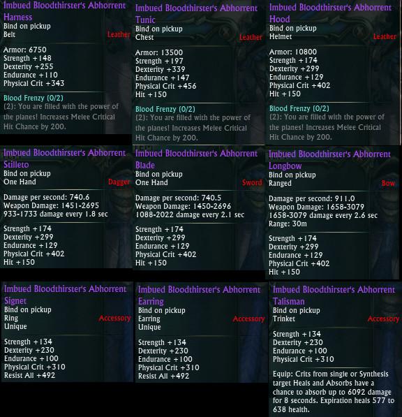 Planar Crafting Rogue DPS Upgrades PTS