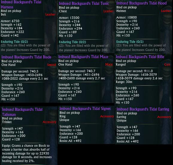 Planar Crafting Rogue Tank Upgrades PTS