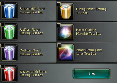 Planar Crafting Test Packs