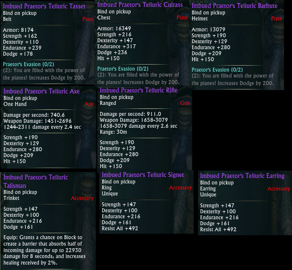 Planar Crafting Warrior Tank Upgrades PTS