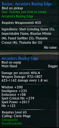 Planar Crafting Weaponsmith Mage PTS