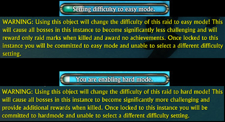 Setting Easy or Hard Mode Difficult Warnings