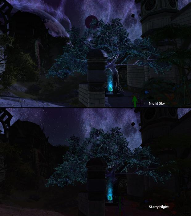 Starry Night vs Night Sky Comparison 1 by Samuraiko