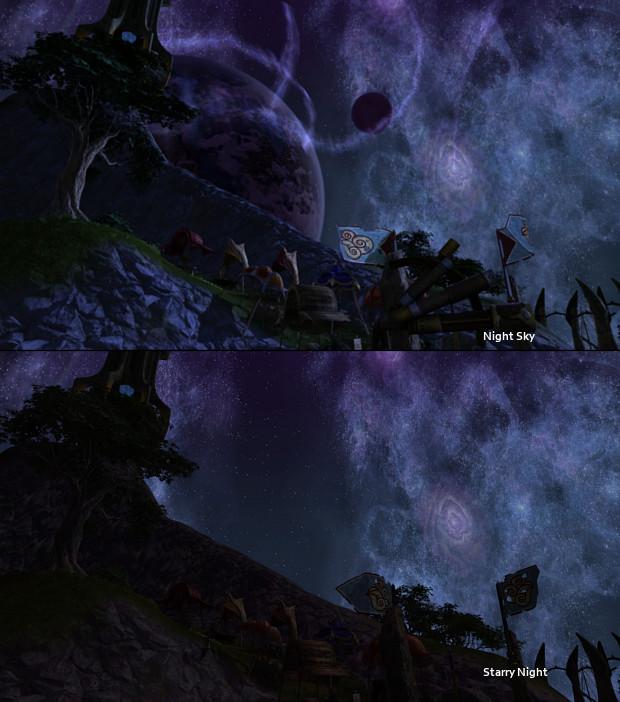 Starry Night vs Night Sky Comparison 2 by Samuraiko