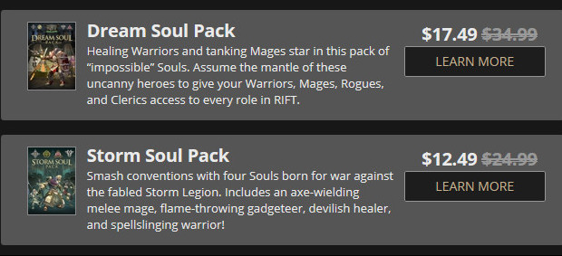 Storm Dream Soul Pack Discount