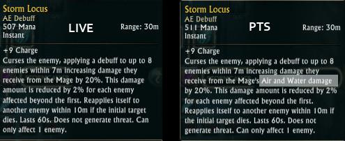 Storm Locus Stormcaller PTS Change