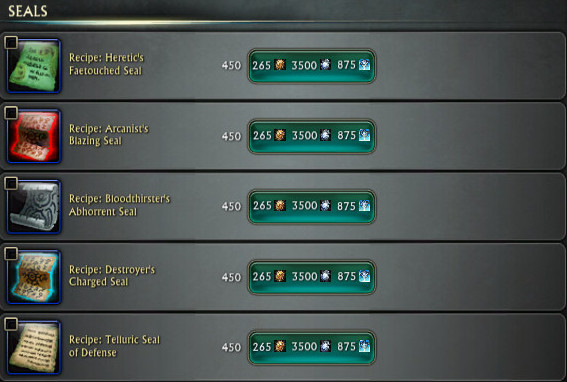 3.4 Apothecary Seal Recipes PTS