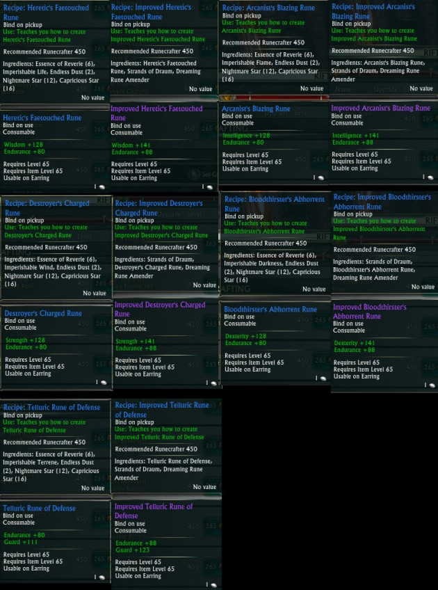 3.4 Runecrafter Earring Recipes PTS