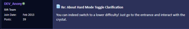 Hard Mode Toggle Clarification by Dev Anony