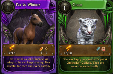 Minion Card Pay to Whinny and Grace