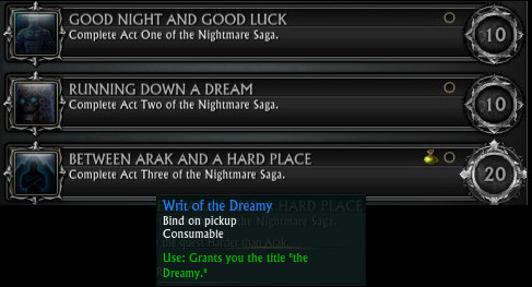 Nightmare Saga Achievements