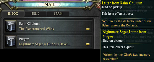 Nightmare Saga Planetouched Wilds Start Quests PTS
