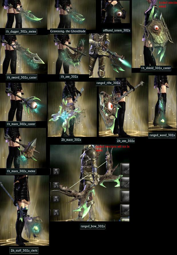 Nightmare Saga Weapon Models PTS