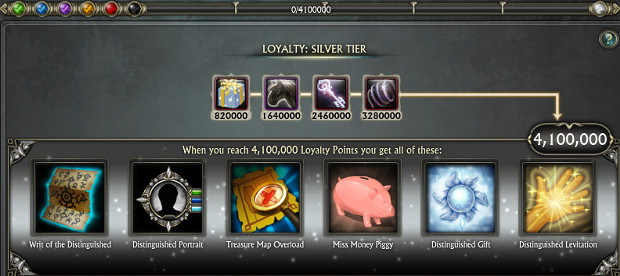 Silver Tier Loyalty PTS