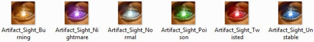 Six Artifact Types RIFT Icons
