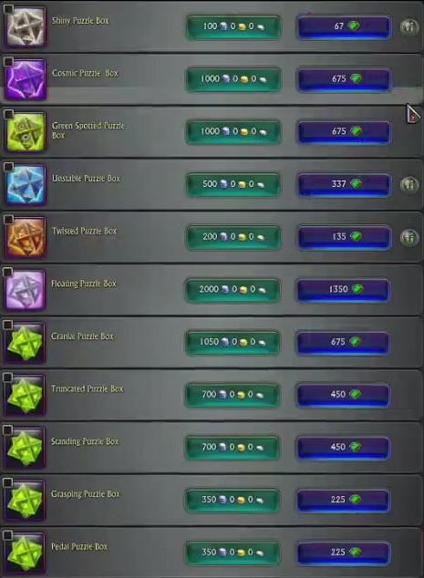 Callweddi NPC Puzzle Boxes