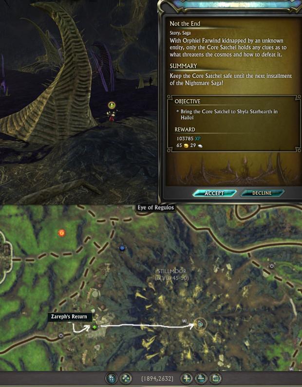Location Nightmare Saga Act III Starting Quest