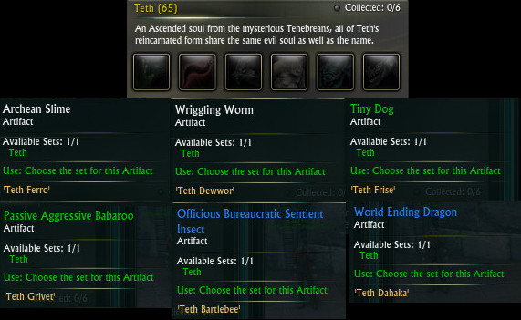 Planetouched Wilds Artifact Set Teth