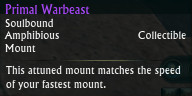 Primal Warbeast Tooltip Amphibious