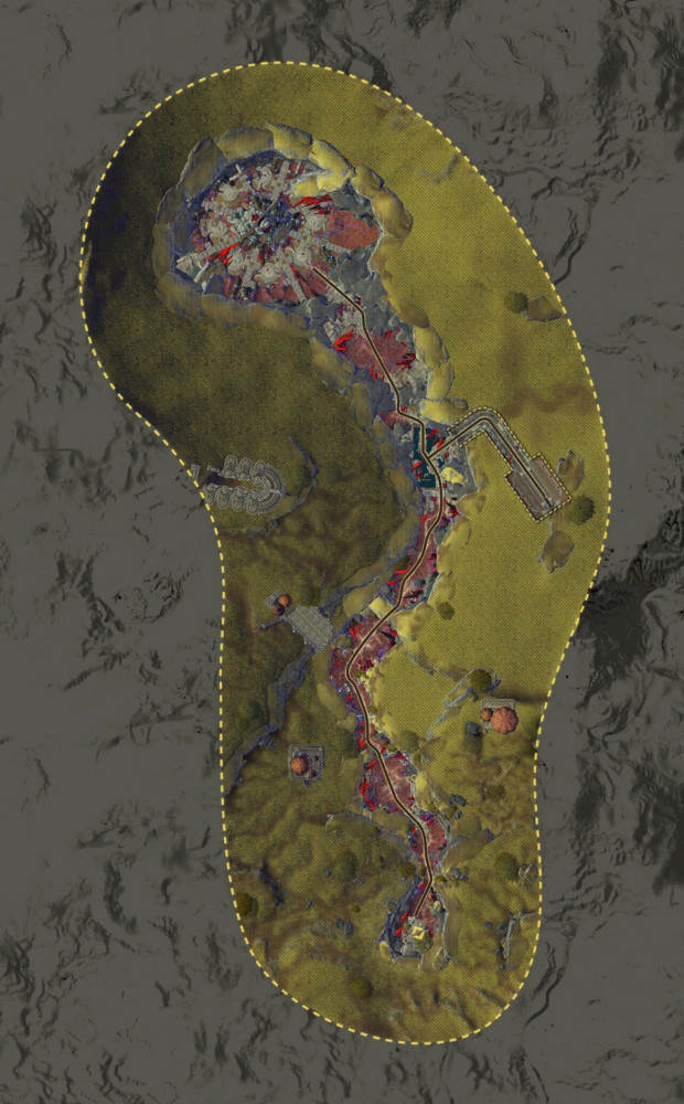 Rhaza'de Canyons Map