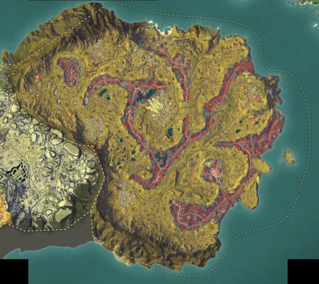 RIFT Planetouched Wilds 3.4 PTS Low-Res Map