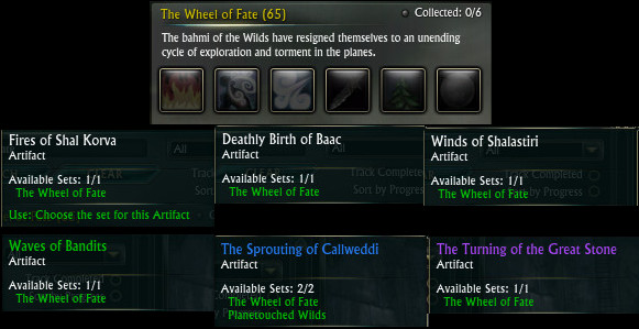 The Wheel of Fate Artifact Set