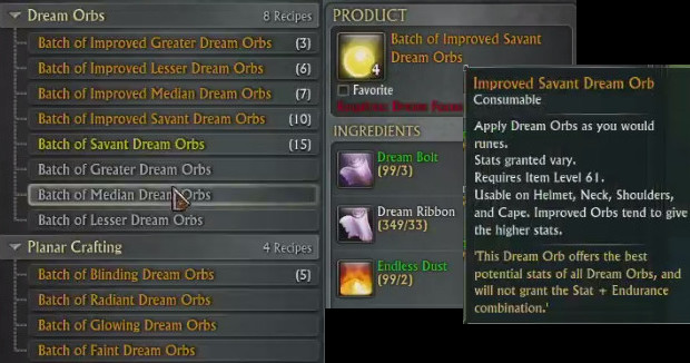 Batch of Improved Savant Dream Orbs