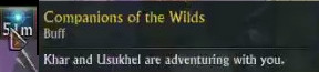 Companion of the Wilds Buff