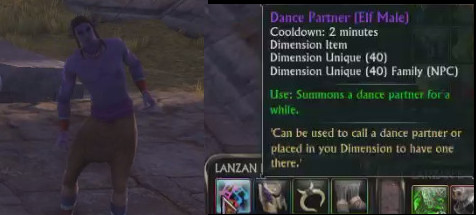Dance Partner Elf Male Dimension Item